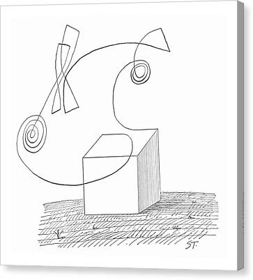 Sculpted Canvas Print - New Yorker October 5th, 1963 by Saul Steinberg