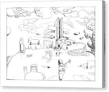 New Yorker October 7th, 1974 Canvas Print by Saul Steinberg