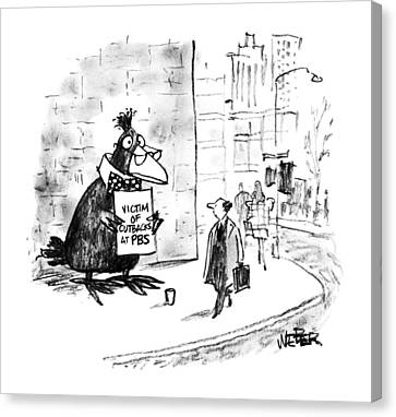 New Yorker October 7th, 1991 Canvas Print by Robert Weber