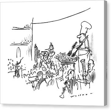 Orchestra Canvas Print - New Yorker October 7th, 1996 by Bill Woodman
