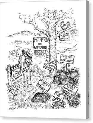 New Yorker October 8th, 1979 Canvas Print by Edward Koren
