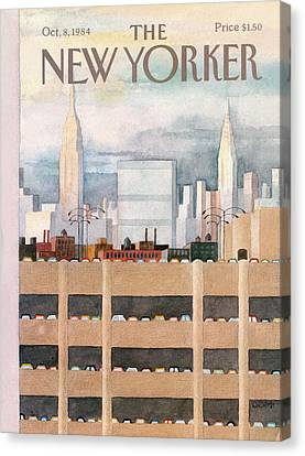 1984 Canvas Print - New Yorker October 8th, 1984 by Charles E. Martin