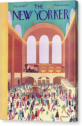 New Yorker September 10th, 1927 Canvas Print by Theodore G. Haupt