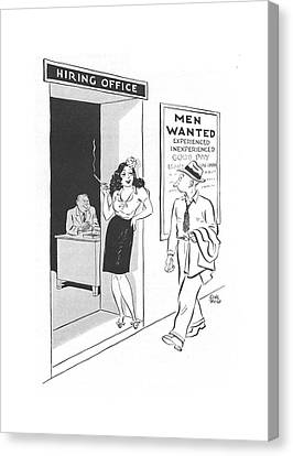 Industry Canvas Print - New Yorker September 11th, 1943 by Carl Rose