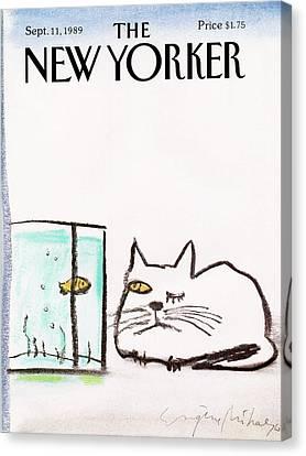 New Yorker September 11th, 1989 Canvas Print by Eugene Mihaesco