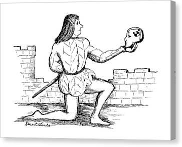 Shakespeare Canvas Print - New Yorker September 11th, 1995 by Stuart Leeds