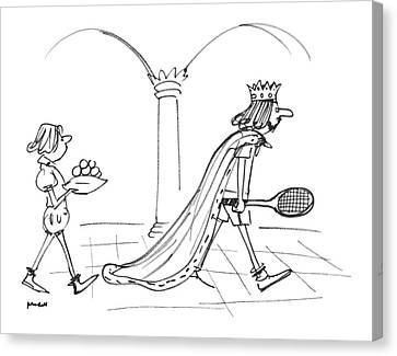 Tennis Canvas Print - New Yorker September 12th, 1977 by Frank Modell