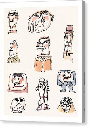 New Yorker September 13th, 1999 Canvas Print by William Steig