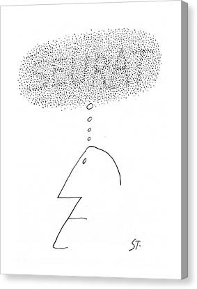Stippling Canvas Print - New Yorker September 14th, 1968 by Saul Steinberg