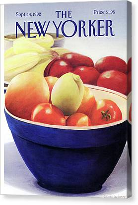 Fill Canvas Print - New Yorker September 14th, 1992 by Gretchen Dow Simpson