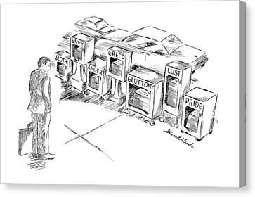 New Yorker September 15th, 1997 Canvas Print by Stuart Leeds