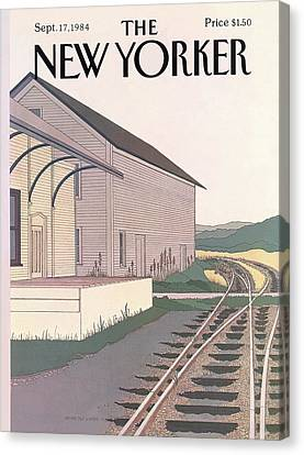 New Yorker September 17th, 1984 Canvas Print by Gretchen Dow Simpson