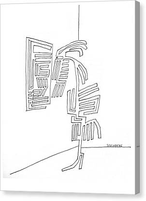 New Yorker September 18th, 1965 Canvas Print by Saul Steinberg