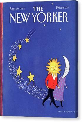 New Yorker September 19th, 1988 Canvas Print by Pamela Paparone