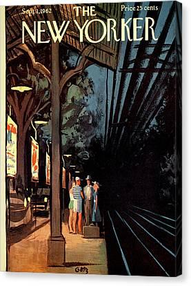 Wait Canvas Print - New Yorker September 1st, 1962 by Arthur Getz