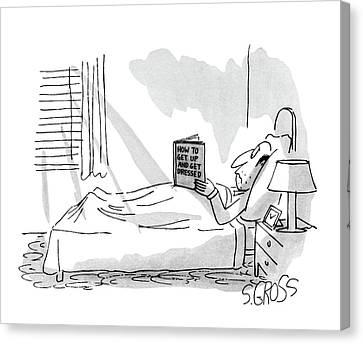Help Canvas Print - New Yorker September 1st, 1980 by Sam Gross