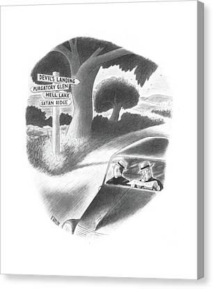 New Yorker September 21st, 1940 Canvas Print