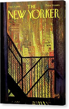 City Canvas Print - New Yorker September 21st, 1968 by Arthur Getz