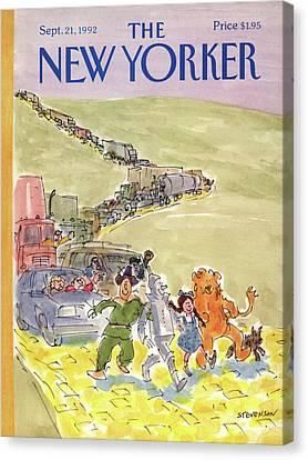New Yorker September 21st, 1992 Canvas Print