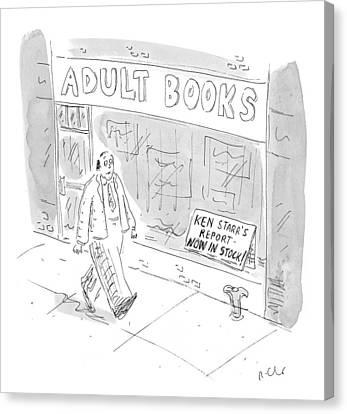 New Yorker September 21st, 1998 Canvas Print by Roz Chast