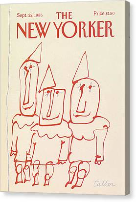 New Yorker September 22nd, 1986 Canvas Print