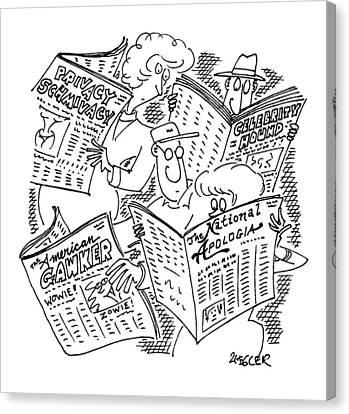 New Yorker September 22nd, 1997 Canvas Print by Jack Ziegler