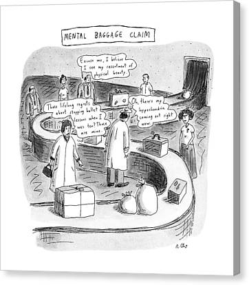 New Yorker September 24th, 1990 Canvas Print by Roz Chast