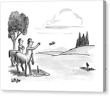 Centaur Canvas Print - New Yorker September 24th, 1990 by Warren Miller