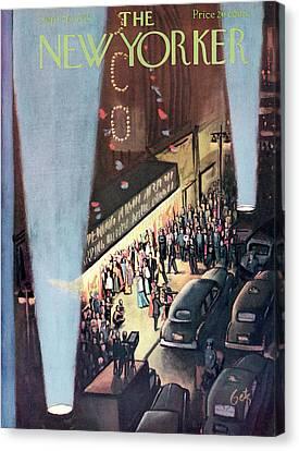 New Yorker September 26th, 1953 Canvas Print by Arthur Getz
