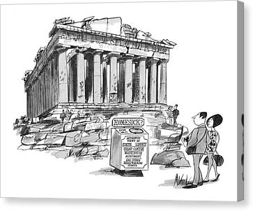 New Yorker September 26th, 1970 Canvas Print
