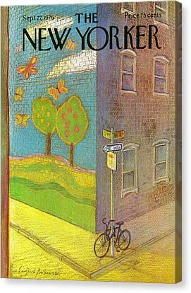New Yorker September 27th, 1976 Canvas Print by Eugene Mihaesco