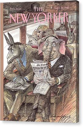New Yorker September 28th, 1998 Canvas Print by Edward Sorel