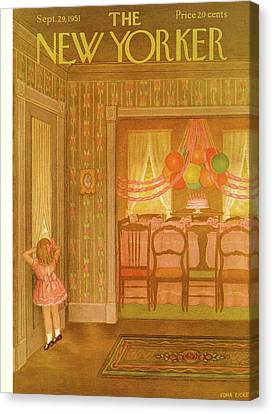Special Occasion Canvas Print - New Yorker September 29th, 1951 by Edna Eicke