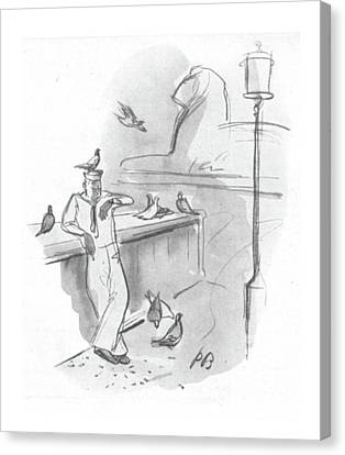 Annoying Canvas Print - New Yorker September 2nd, 1944 by Perry Barlow