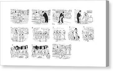 New Yorker September 2nd, 1944 Canvas Print by Roberta Macdonald