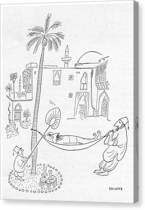 New Yorker September 30th, 1950 Canvas Print by Saul Steinberg