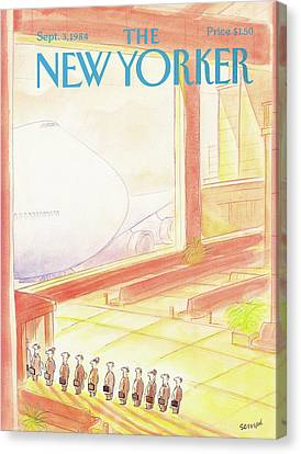 New Yorker September 3rd, 1984 Canvas Print by Jean-Jacques Sempe