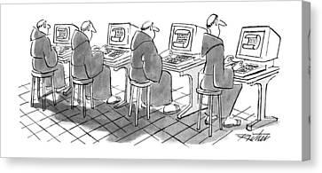 New Yorker September 3rd, 1990 Canvas Print by Mischa Richter