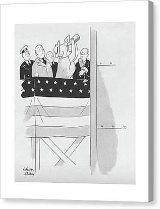 New Yorker September 4th, 1943 Canvas Print by Chon Day