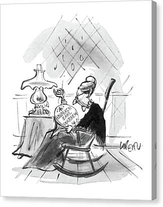 Rocking Chairs Canvas Print - New Yorker September 5th, 1964 by Lee Lorenz