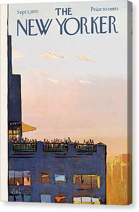 New Yorker September 5th, 1970 Canvas Print by Arthur Getz
