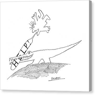 New Yorker September 5th, 1970 Canvas Print by Saul Steinberg