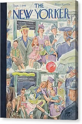 New Yorker September 7th, 1940 Canvas Print