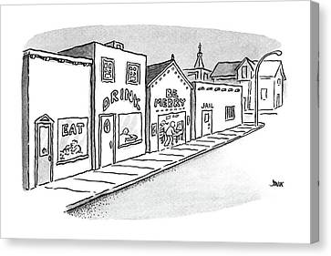New Yorker September 7th, 1987 Canvas Print by John Jonik