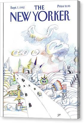 New Yorker September 7th, 1992 Canvas Print