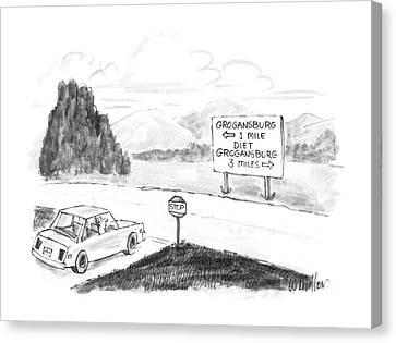 New Yorker September 8th, 1986 Canvas Print by Warren Miller