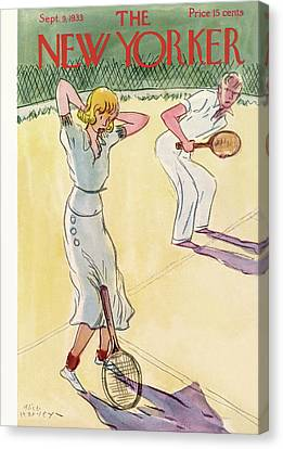 Women Tennis Canvas Print - New Yorker September 9th, 1933 by Alice Harvey