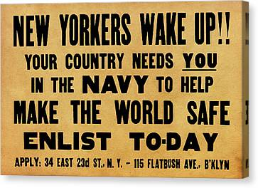 New Yorkers Wake Up Canvas Print by God and Country Prints