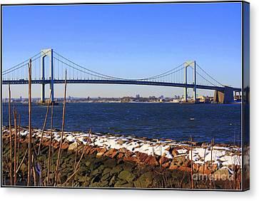 New York's Throgs Neck Bridge Canvas Print by  Photographic Art and Design by Dora Sofia Caputo
