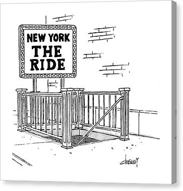 Entrance Canvas Print - New York The Ride by Tom Cheney